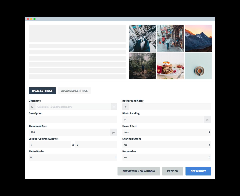 SnapWidget | Customizable and Responsive Instagram Widget