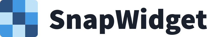 SnapWidget Full Logo Medium